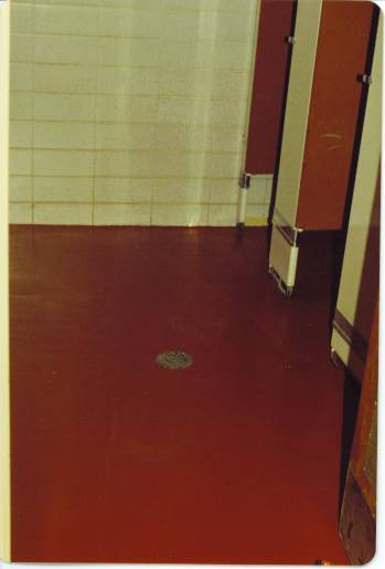 Epoxy.com Product #24 Pigmented Epoxy Mortar used on a the bathroom floor a a dorm at UVM in Burlington, Vermont