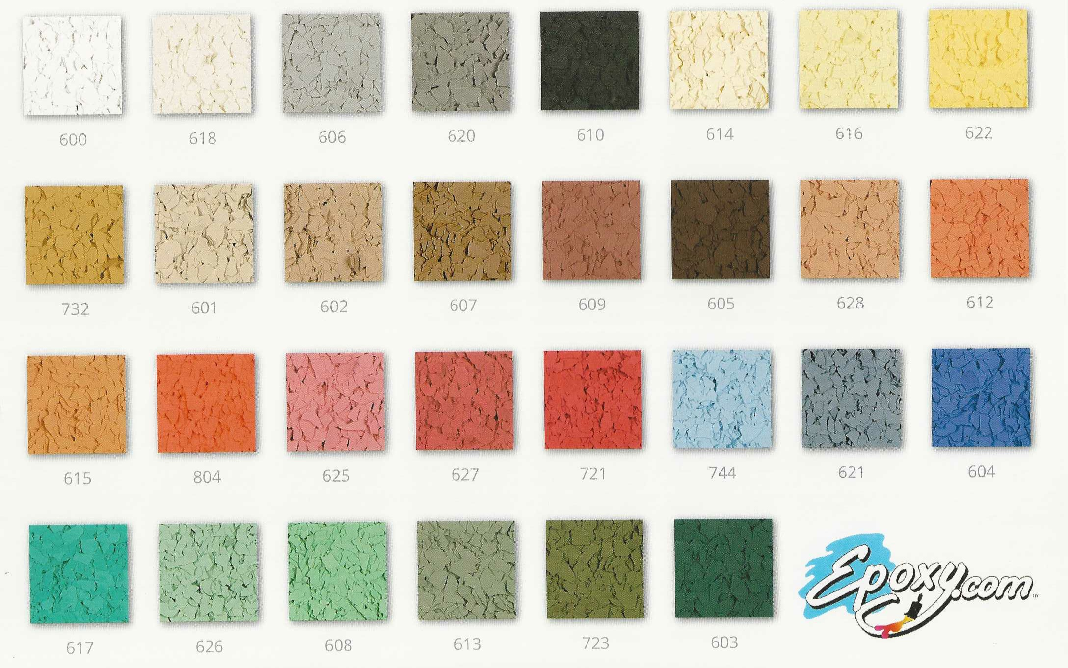 Epoxy Paint Chips : Epoxy garage flooring systems industirial strength